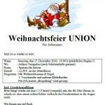 Union Eckel - Weihnachtsfeier 2016 - Ankündigung
